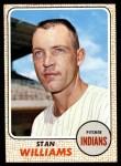 1968 Topps #54  Stan Williams  Front Thumbnail