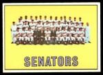 1967 Topps #437   Senators Team Front Thumbnail