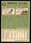 1967 Topps #118  Bernie Allen  Back Thumbnail