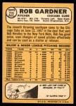 1968 Topps #219  Rob Gardner  Back Thumbnail