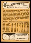 1968 Topps #260  Jim Wynn  Back Thumbnail