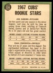 1967 Topps #536   -  Joe Niekro / Paul Popovich Cubs Rookies Back Thumbnail