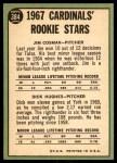 1967 Topps #384   -  Dick Hughes / Jim Cosman Cardinals Rookies Back Thumbnail
