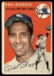 1954 Topps #17 WHT Phil Rizzuto  Front Thumbnail