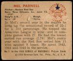 1950 Bowman #1  Mel Parnell  Back Thumbnail