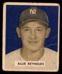 1949 Bowman #114  Allie Reynolds  Front Thumbnail