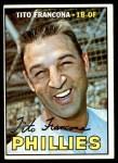1967 Topps #443  Tito Francona  Front Thumbnail