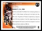 2010 Topps Update #14  Ike Davis  Back Thumbnail