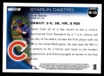 2010 Topps Update #135  Starlin Castro  Back Thumbnail