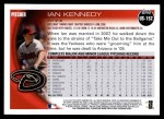 2010 Topps Update #152  Ian Kennedy  Back Thumbnail