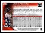 2010 Topps Update #284  Josh Reddick  Back Thumbnail