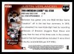 2010 Topps Update #290  Justin Verlander  Back Thumbnail