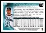 2010 Topps #118  Brandon Morrow  Back Thumbnail