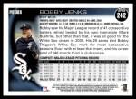 2010 Topps #242  Bobby Jenks  Back Thumbnail