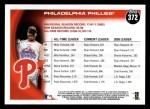 2010 Topps #372   Phillies History Back Thumbnail