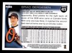 2010 Topps #423  Brad Bergesen  Back Thumbnail