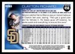 2010 Topps #456  Clayton Richard  Back Thumbnail