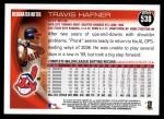 2010 Topps #538  Travis Hafner  Back Thumbnail