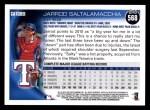 2010 Topps #568  Jarrod Saltalamacchia  Back Thumbnail