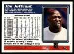 1995 Topps #63  Jim Jeffcoat  Back Thumbnail