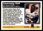 1995 Topps #99  Courtney Hall  Back Thumbnail