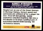 1995 Topps #235  Korey Stringer  Back Thumbnail