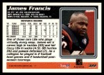 1995 Topps #322  James Francis  Back Thumbnail