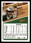 1993 Topps #58  Jeff Feagles  Back Thumbnail