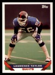 1993 Topps #105  Lawrence Taylor  Front Thumbnail