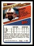 1993 Topps #238  Leonard Russell  Back Thumbnail