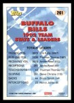 1993 Topps #261   -  Jim Kelly Bills Leaders Back Thumbnail
