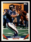 1993 Topps #350  Phil Simms  Front Thumbnail