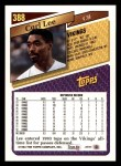 1993 Topps #388  Carl Lee  Back Thumbnail