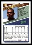 1993 Topps #483  Carlton Gray  Back Thumbnail
