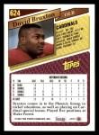 1993 Topps #624  David Braxton  Back Thumbnail