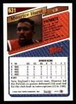 1993 Topps #631  Maurice Hurst  Back Thumbnail