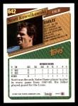 1993 Topps #642  Scott Kowalkowski  Back Thumbnail