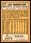 1968 Topps #357  Len Gabrielson  Back Thumbnail