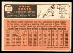 1966 Topps #535  Willie Davis  Back Thumbnail