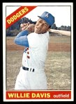 1966 Topps #535  Willie Davis  Front Thumbnail