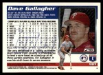 1995 Topps Traded #90 T Dave Gallagher  Back Thumbnail