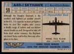 1957 Topps Planes #59 BLU  A4d-1 Skyhawk Back Thumbnail
