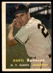 1957 Topps #49  Daryl Spencer  Front Thumbnail