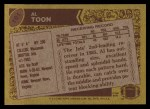 1986 Topps #101  Al Toon  Back Thumbnail