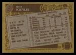 1986 Topps #117  Rich Karlis  Back Thumbnail
