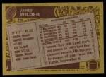 1986 Topps #375  James Wilder  Back Thumbnail