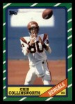 1986 Topps #258  Cris Collinsworth  Front Thumbnail
