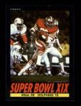 1985 Topps #9   Super Bowl XIX Front Thumbnail