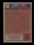 1985 Topps #81  Kent Hill  Back Thumbnail