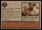 1962 Topps #458 EMB Bob Buhl  Back Thumbnail